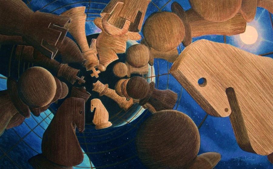 Color pencil illustrations by Steven Gutierrez