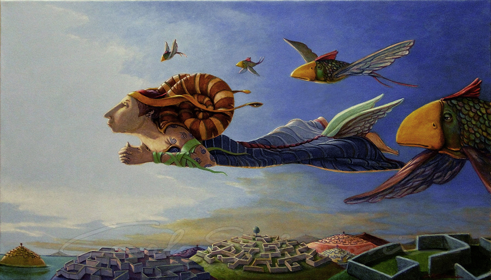 Surrealism: paintings by the artist Carlo Salomoni, Italy ...