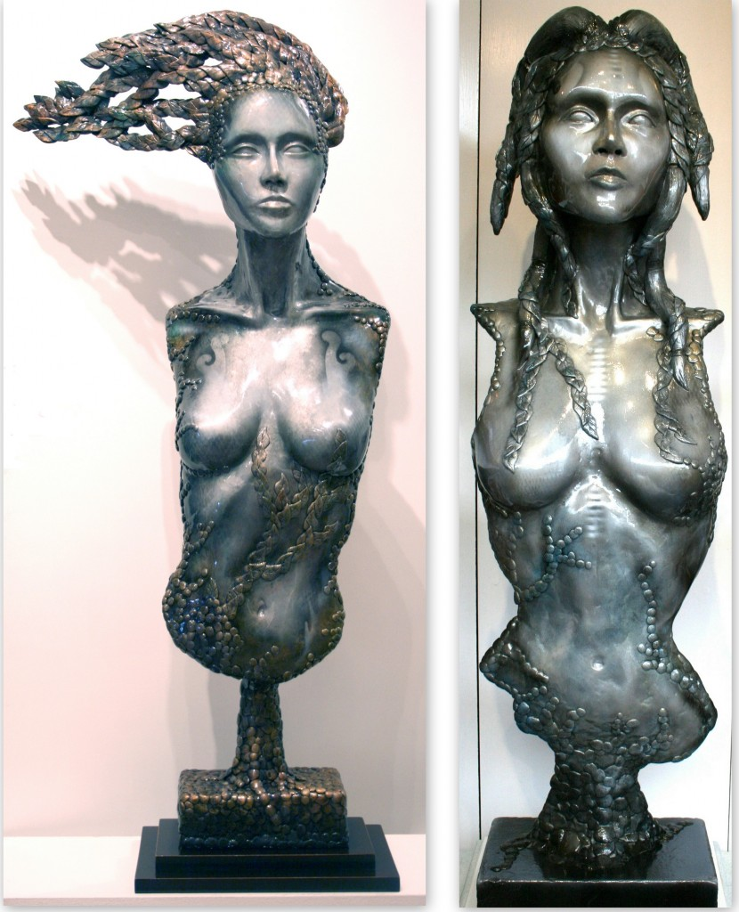 Freya and Gaya - Sculptures by Paul Ehlen