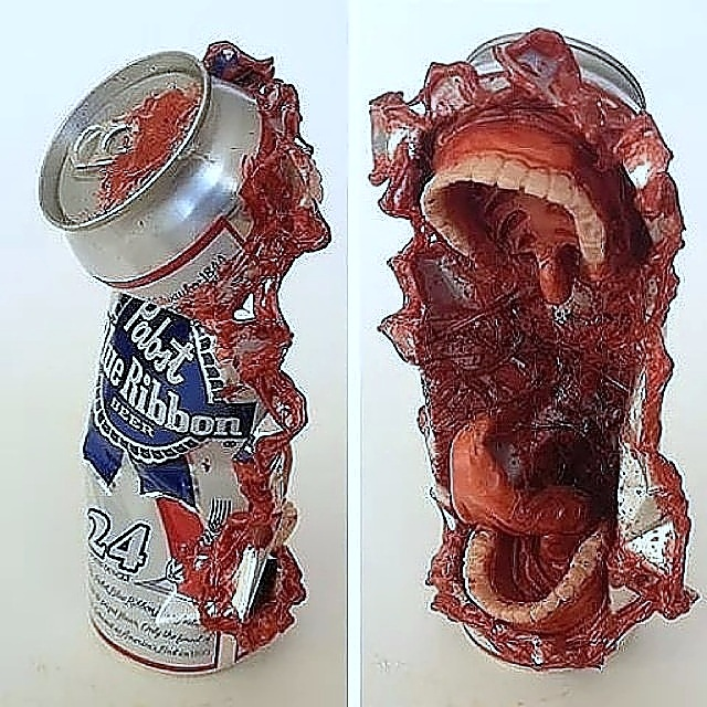 Horror sculptures by Travis Mullins