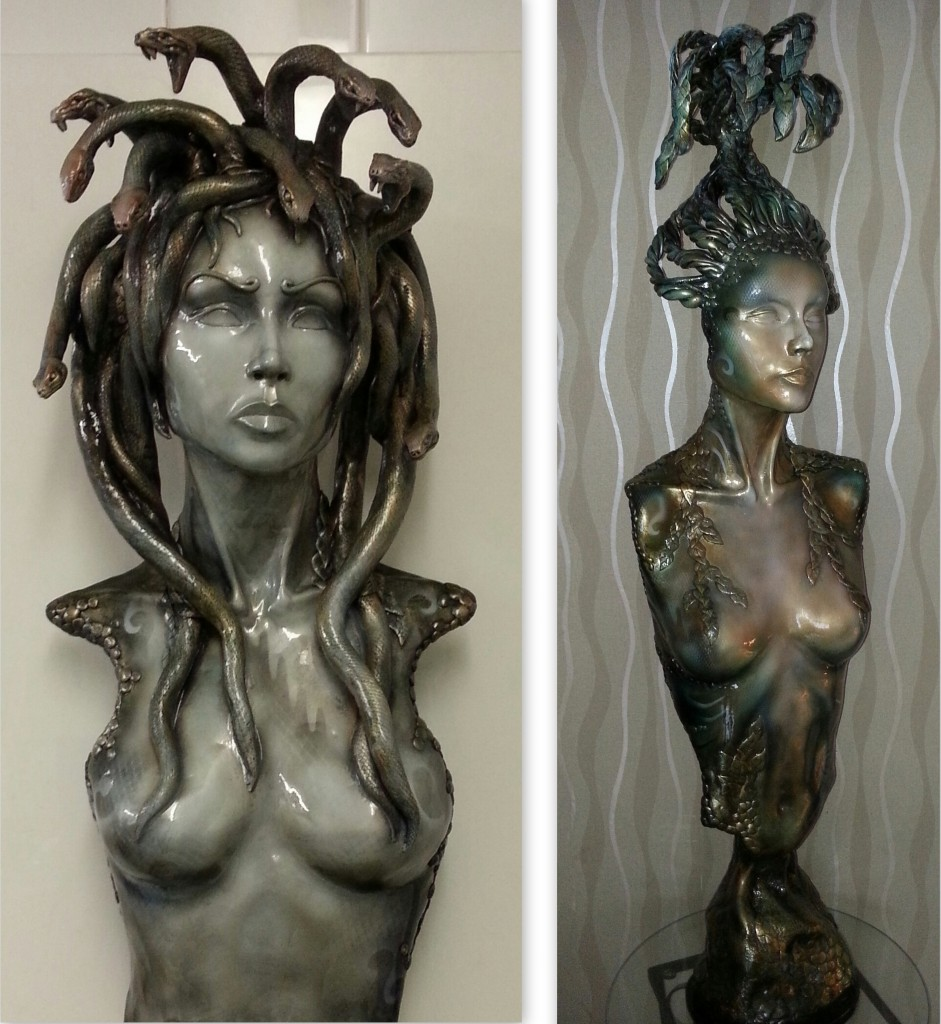 Medusa and Terra - Sculptures by Paul Ehlen