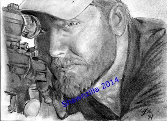Graphite art by Shawn Howe - Shawnzilla