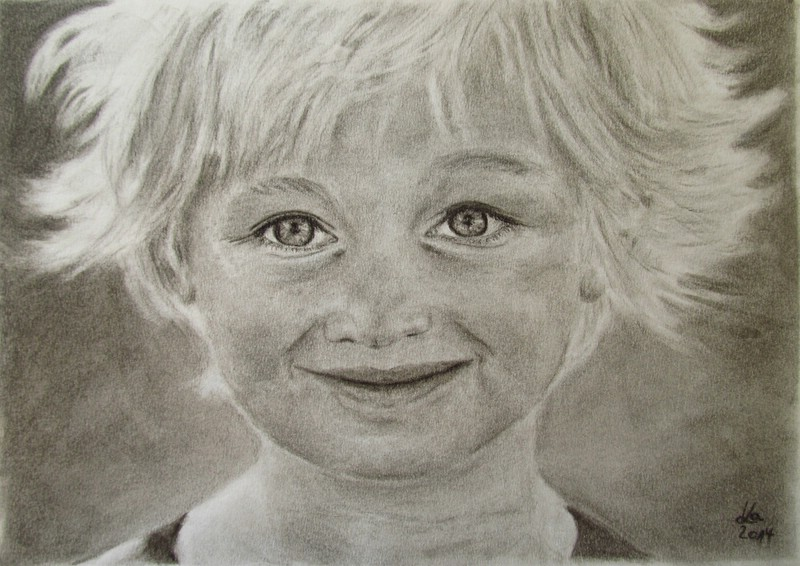 Charcoal drawings by Karin Kiessling