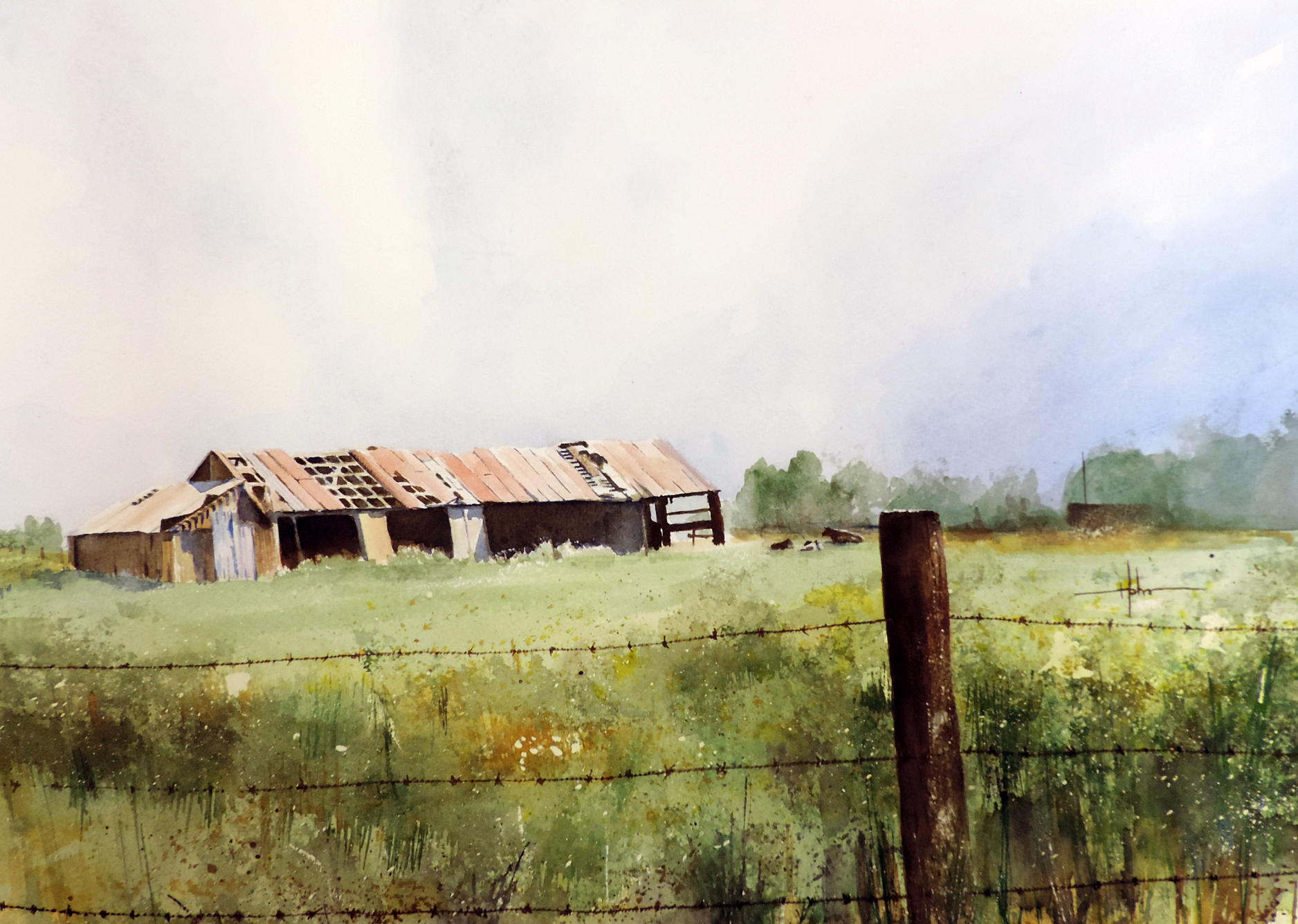 Watercolor paintings by Richard Hahn