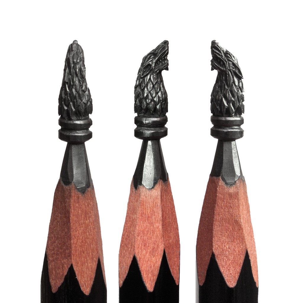 Micro Sculptures - pencil carving by Salavat Fidai