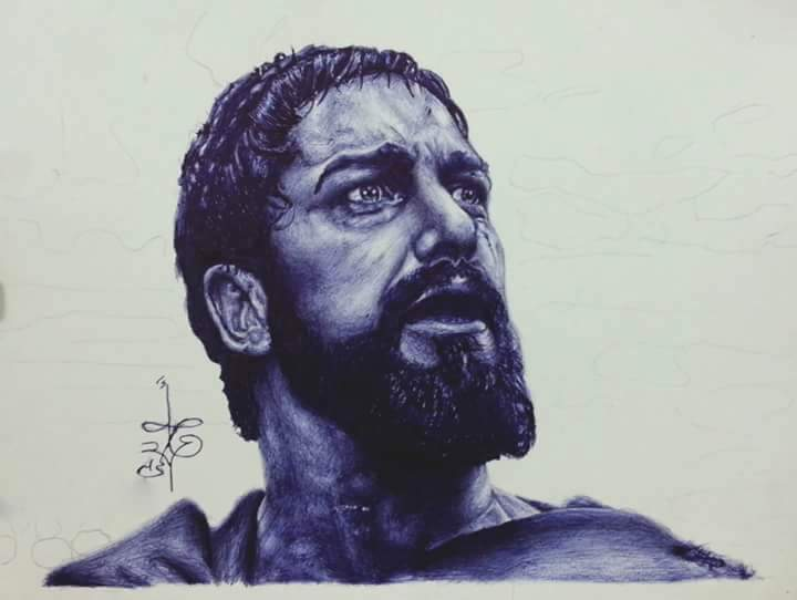 300 movie - Ballpoint pen drawings by Abd Ulala Faisal