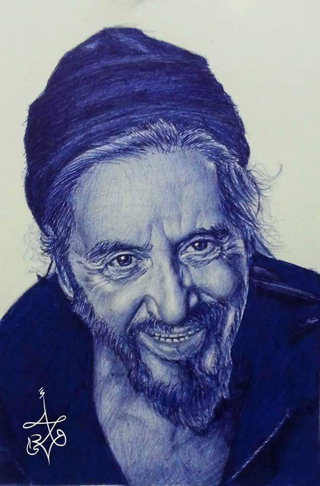 Al Pachino - Ballpoint pen drawings by Abd Ulala Faisal