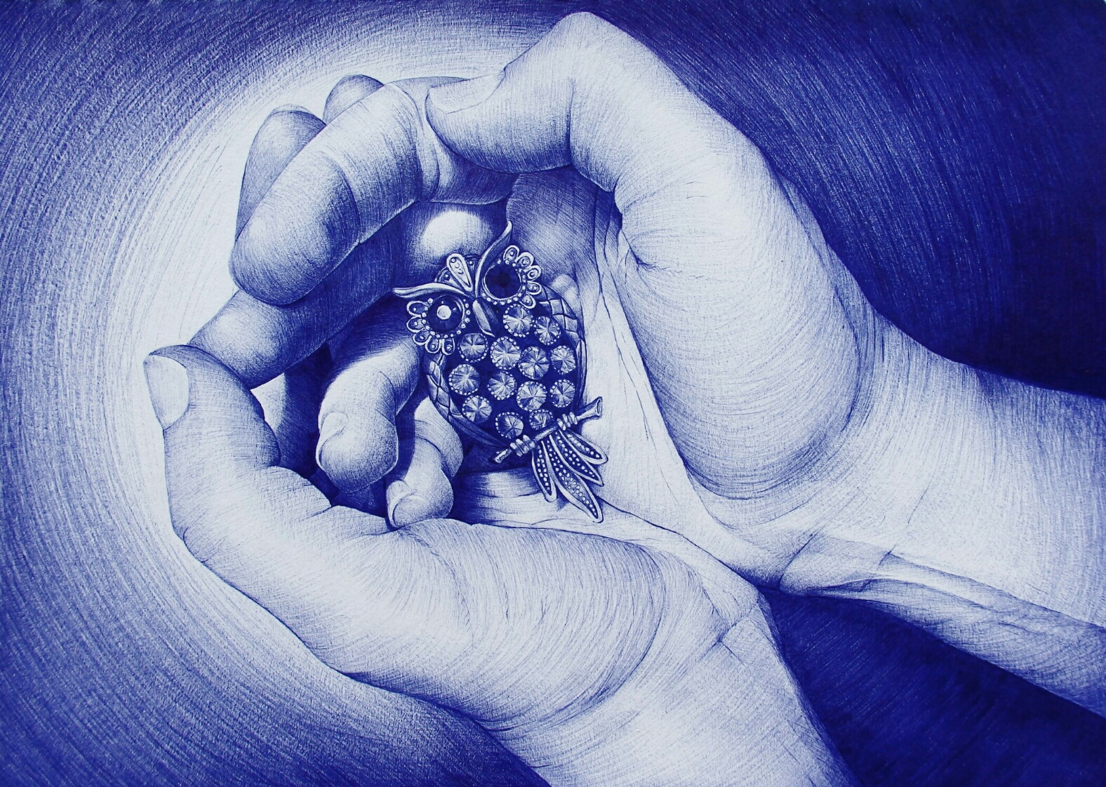 Ballpoint pen and pencil Drawings by Alexandra Miron