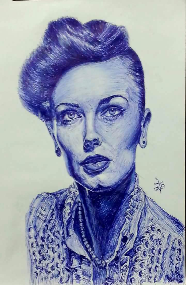 Ballpoint pen drawings by Abd Ulala Faisal