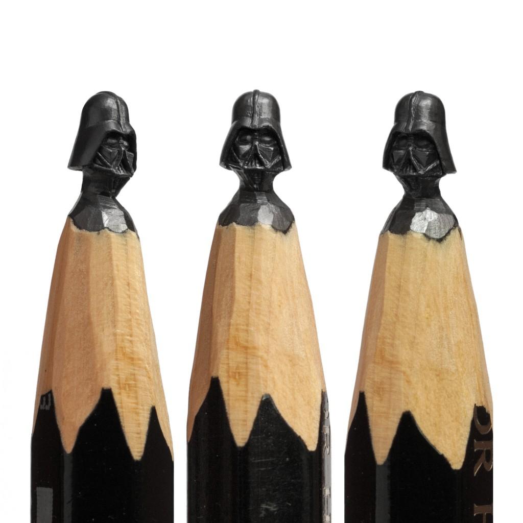 Dart Vader - Micro Sculptures - pencil carving by Salavat Fidai