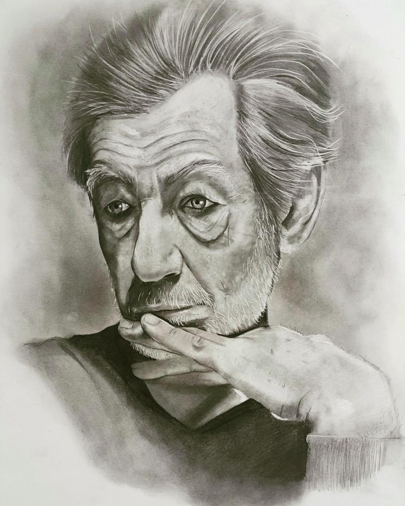 Ian Murray McKellen Portrait by Mohammed Al-Nasser