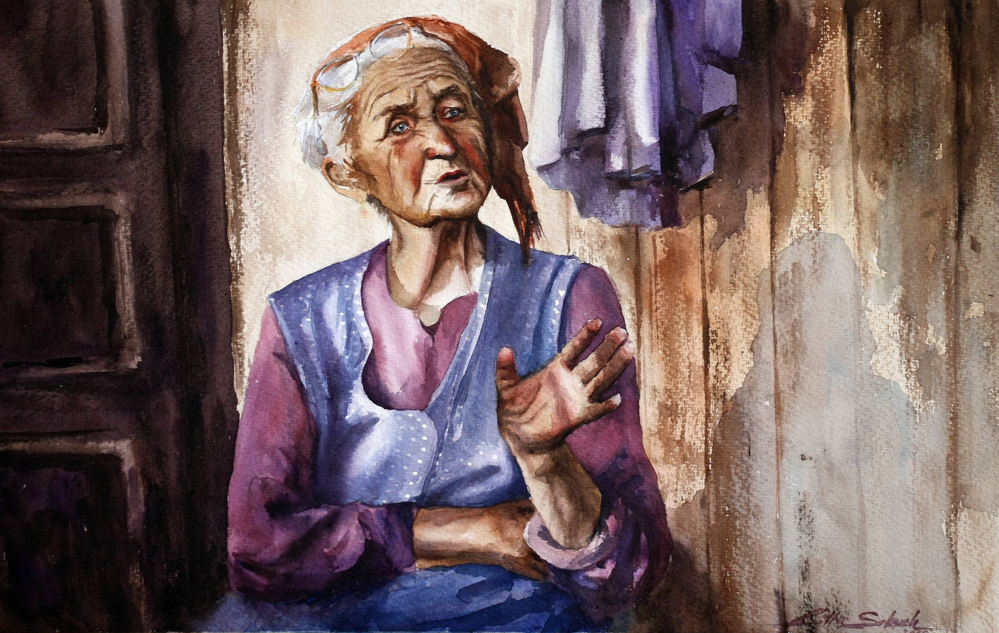 Old stories - Watercolor paintings by Lilla Schuch