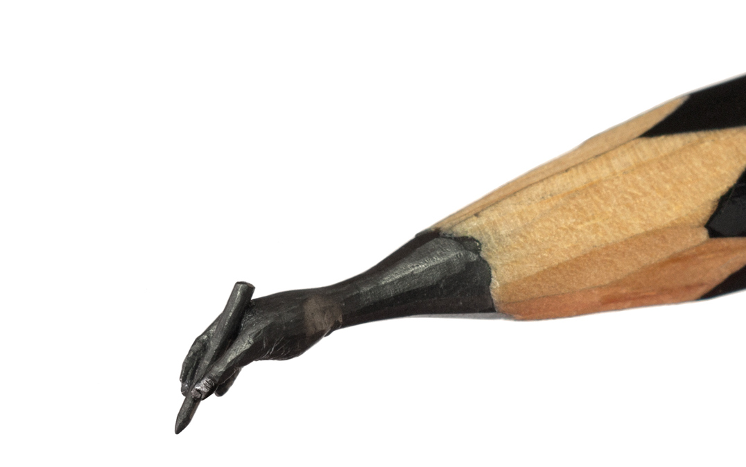 Salavat Fidai - Micro sculptures pencil carving