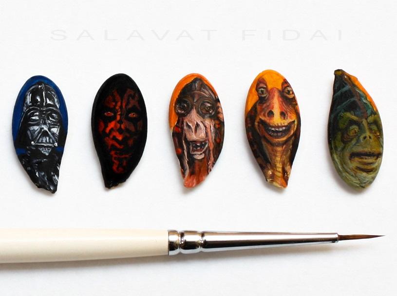 Salavat Fidai - Miniature paintings on seeds