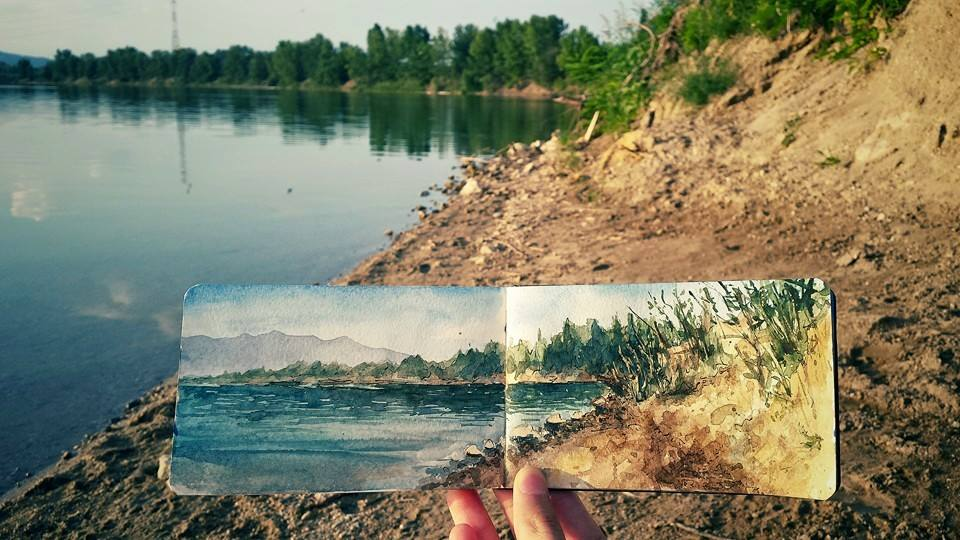Sketchbook - Watercolor paintings by Lilla Schuch
