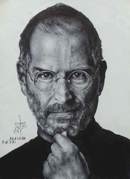 Steve Jobs - Ballpoint pen drawings by Abd Ulala Faisal