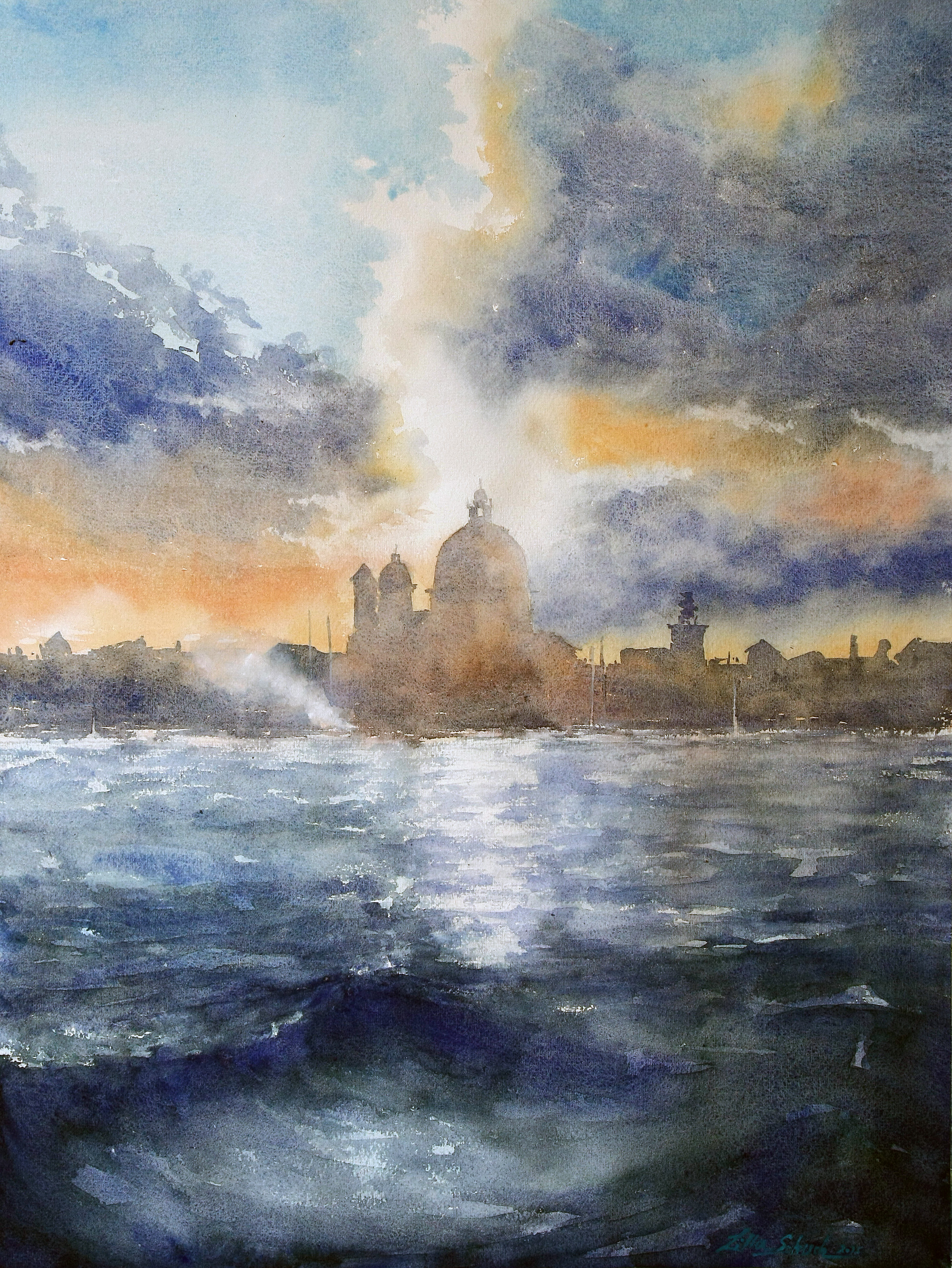 Venice - Watercolor paintings by Lilla Schuch