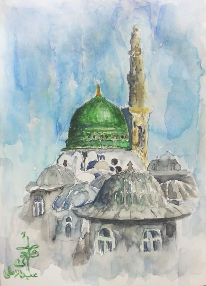 Watercolor painting by Abd Ulala Faisal