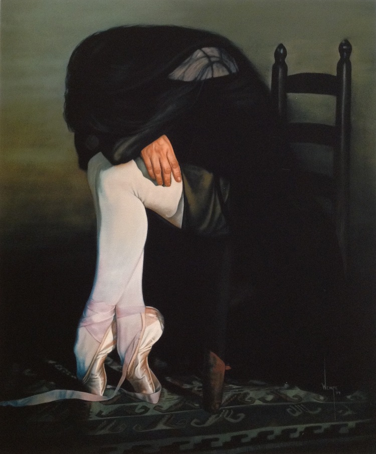 James Wempe - Last Dance - oil on linen 1994