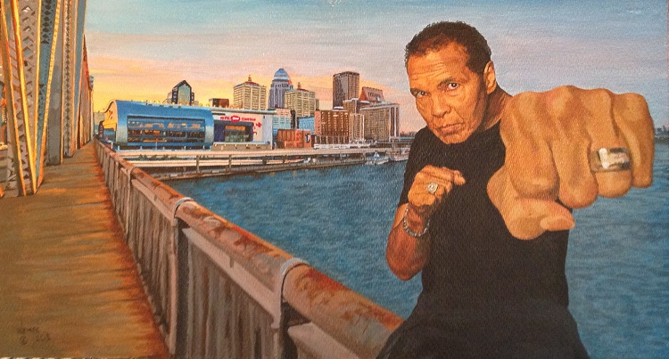 James Wempe - The greatest - acrylic on hardboard 2015