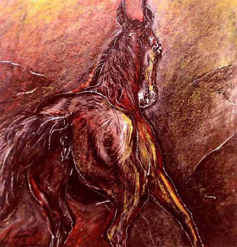 Mixed medium paintings by Satyajit Chanda