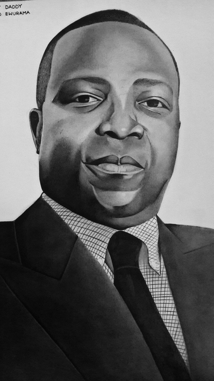 Pencil portraits by Morris Mensah Baffoe
