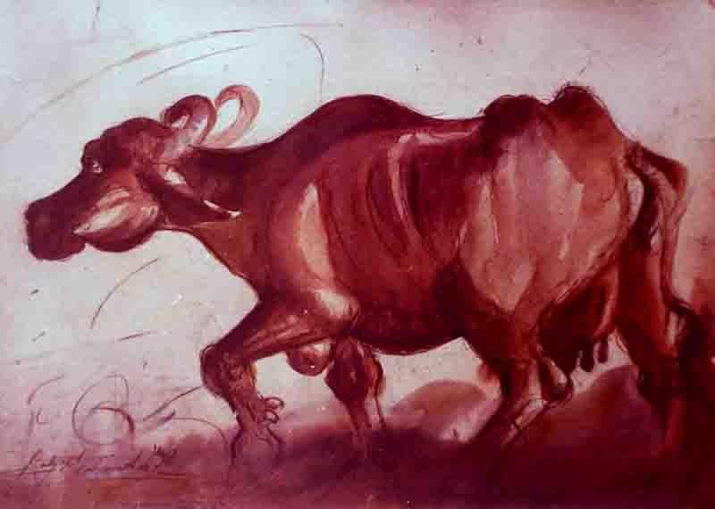Watercolour on Paper paintings by Satyajit Chanda