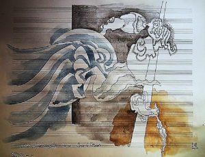 Acrylic, Pencil and Watercolor paintings by Orlando Rafael Dos Santos