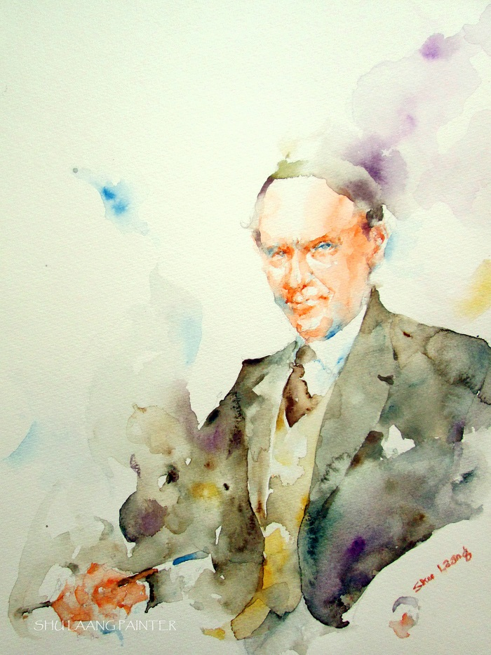 James Edward Hervey MacDonald - Watercolour painting by Goh Shu Laang