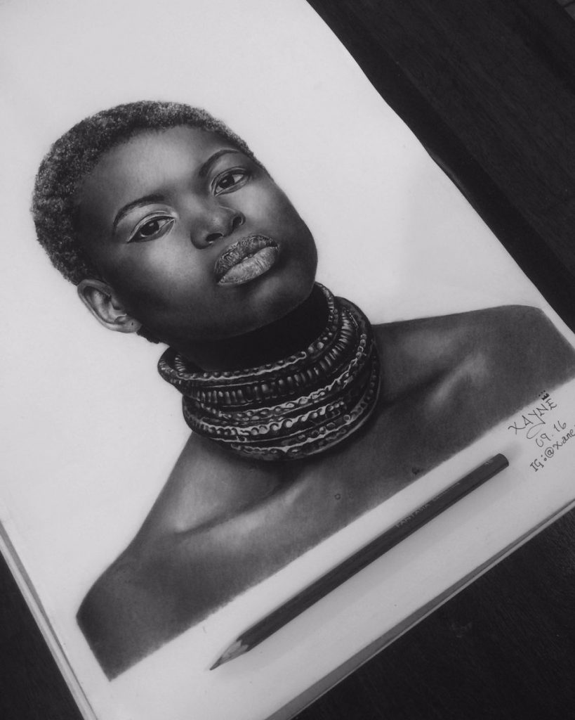 Photo realistic drawings and paintings by artist Xane Asiamah
