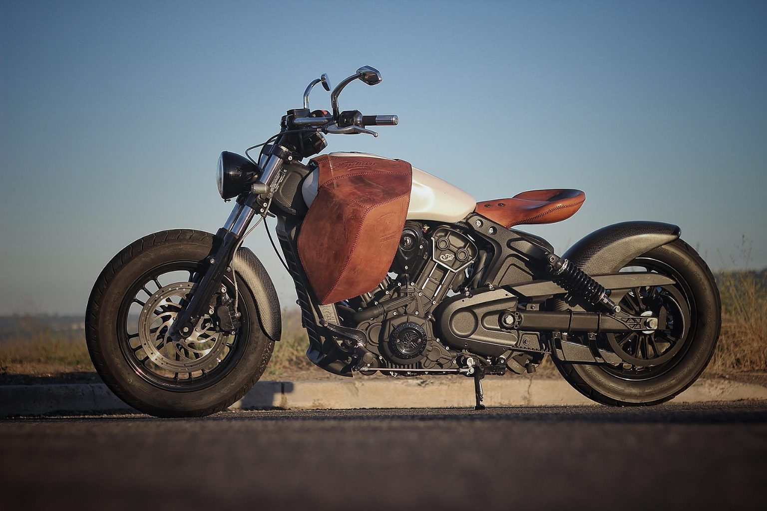Custom motorcycle leather designs