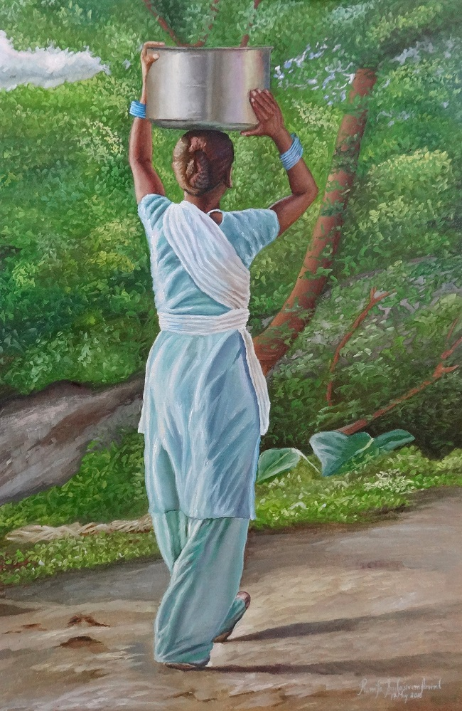 Paintings by Indian artist Ramya Sadasivam