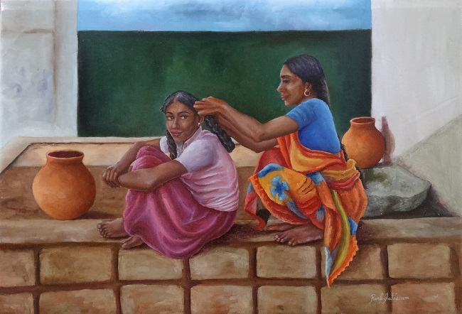 Paintings by Indian artist Ramya Sadasivam