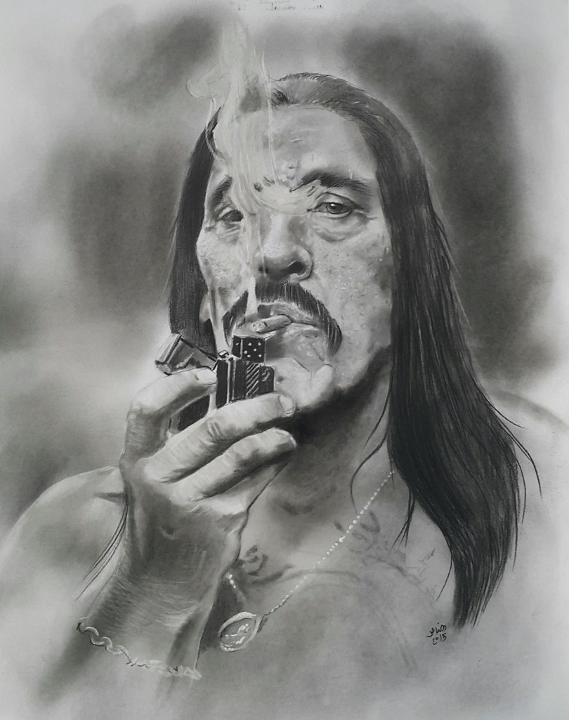 Danny Trejo portrait by Mohammed Al-Nasser